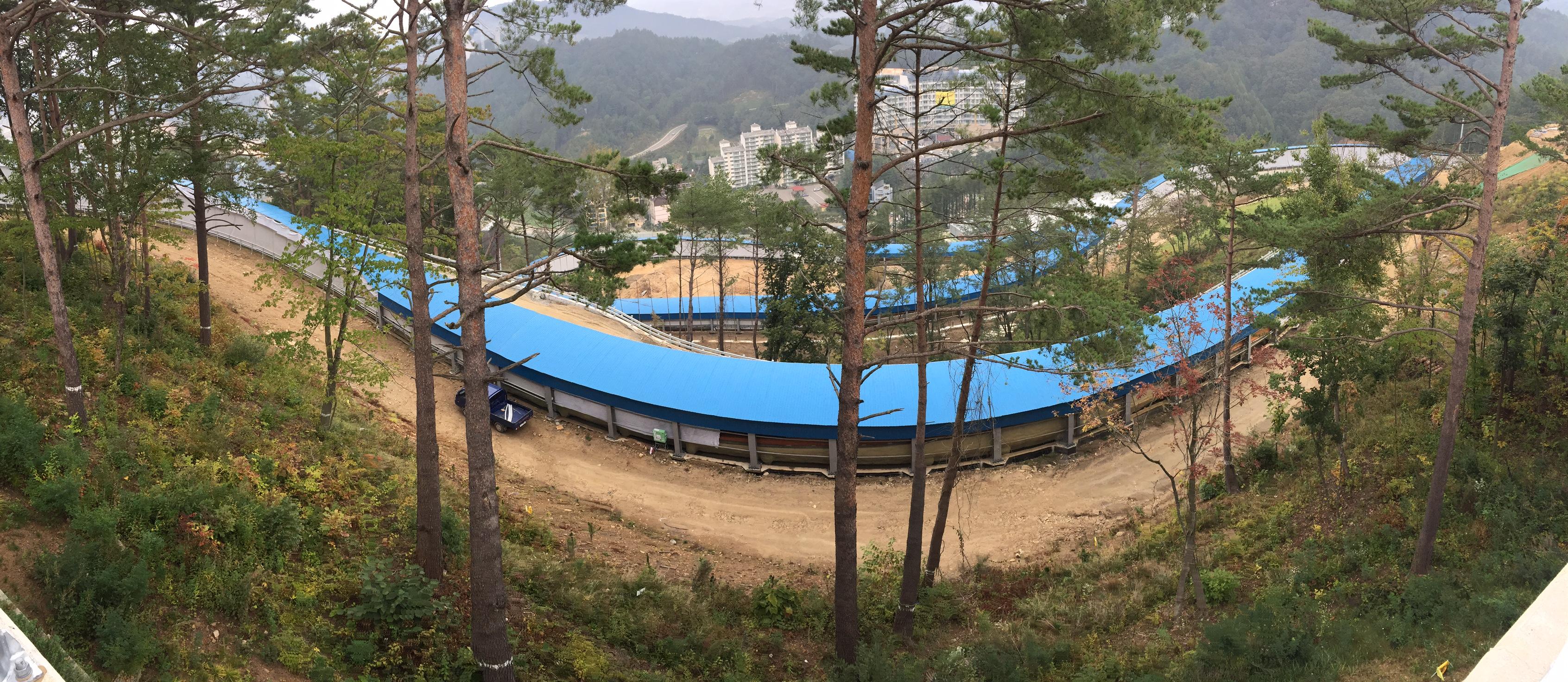 Une partie de la piste olympique