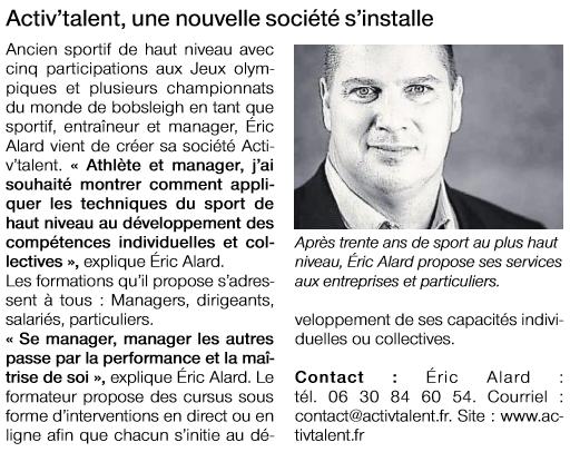 Ouest France Activ Talent 4 fevrier 2016